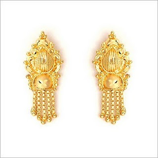 Latest Bridal Gold Earring Collection 2010