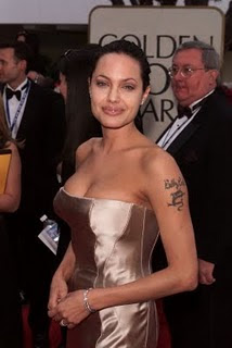 celebrity actress Angelina Jolie Tattoo