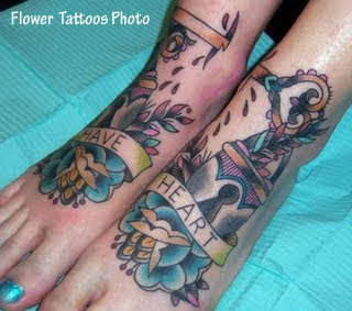 Beautiful Feet Tattoo Design
