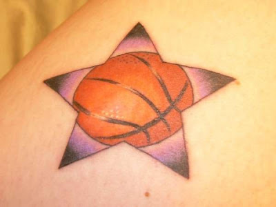 Tattoo Design For Basketball Lovers - Star Basketball Tattoo