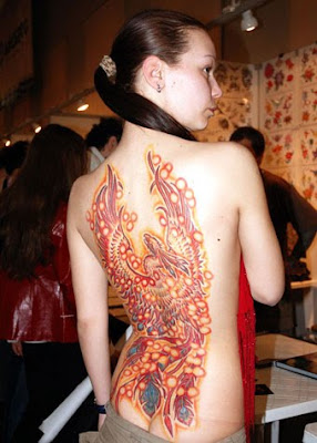 Full back Body Sexy Girl Tattoo