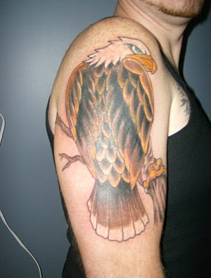 Eagle Tattoo Design on Male Hand