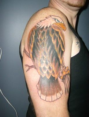 Eagle Tattoo Design on Male Hand