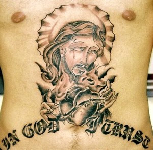 Christian Tattoo Jesus on Chest