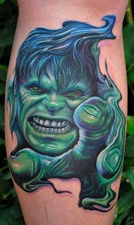 Superhero Tattoos - Hulk Tattoo Design