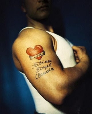 Love Heart Tattoos Biceps Tattoo Design - Heart Tattoo Design