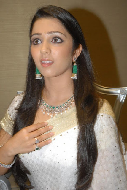 Actress Charmi in Pearl Jewellery Set