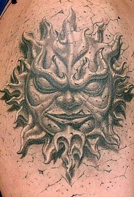3D Tattoo Design - Sun Tattoo