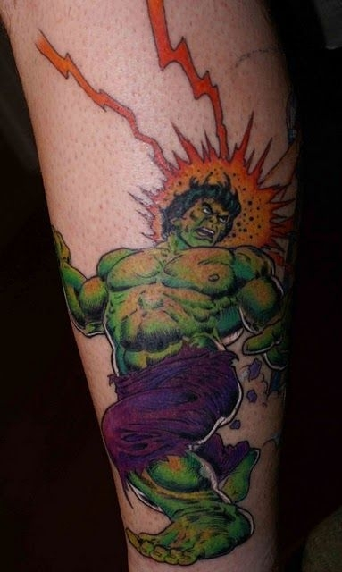 Hulk Tattoo - Superheros Tattoo Design