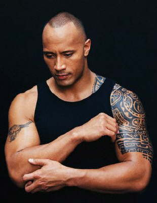 wwe rock wallpaper. WWE Superstar The Rock Tattoos