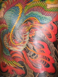 Asian Phoenix Tattoo