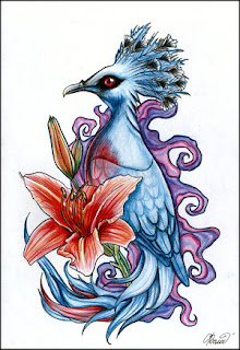 Exotic Bird Tattoo Design