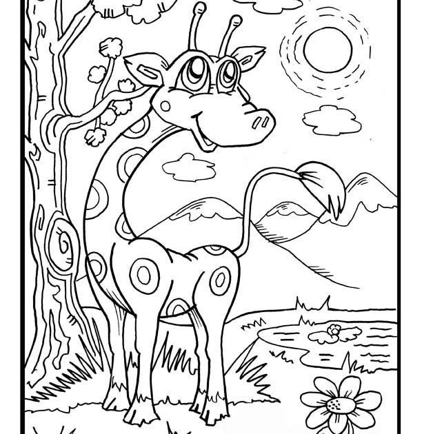 Funny giraffe coloring pages coloring pages gallery for Precious moments giraffe coloring pages