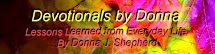 Devotionals by Donna - Click Logo