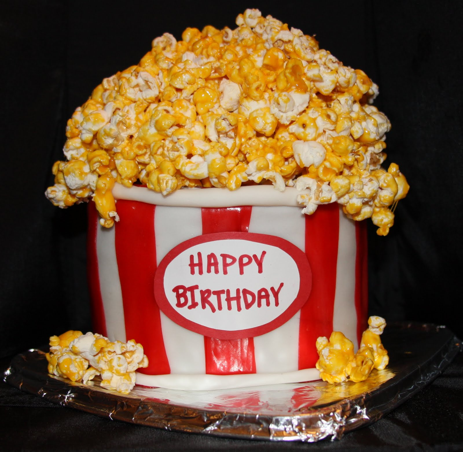 Movie Night Themed Birthday Cakes