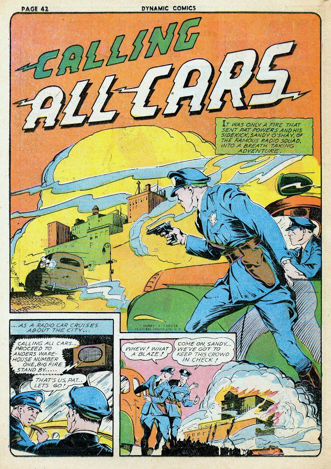 The Comic Book Catacombs: Calling All Cars (Chesler;1941)