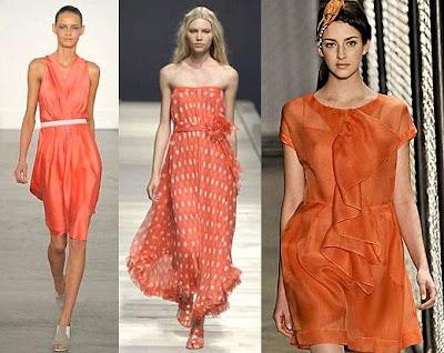 Vestido de festa na tonalidade laranja