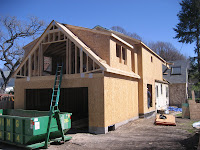 Swanson residence framing roof tie in for How much to add a garage with bonus room