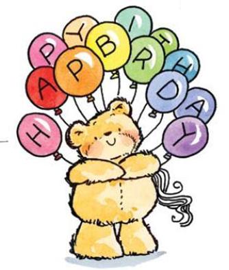birthday balloons background. happy irthday balloons