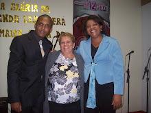 Pastor J. Filho, Miss. Doclair e Pastorea Ana Catia.
