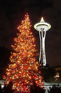 space needle arbre de noël seattle