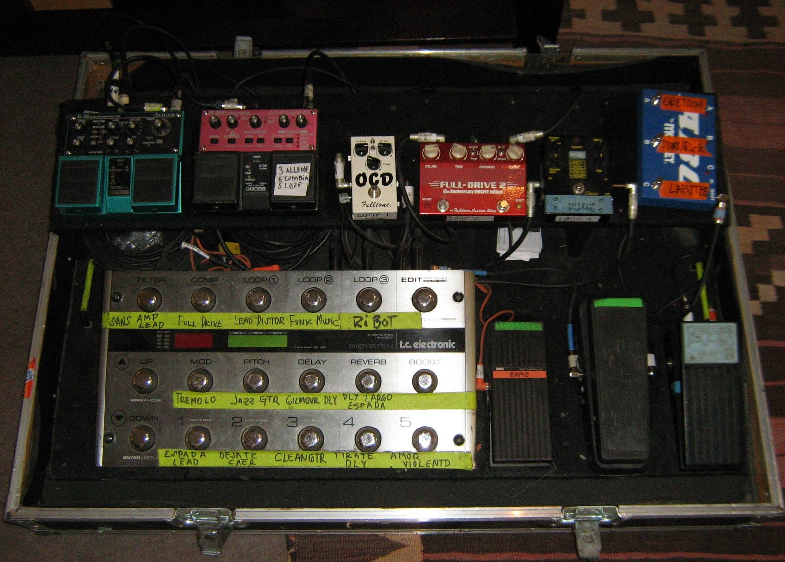 Groove Electronics Chile Pedalboard 193 Ngel Parra Los Tres