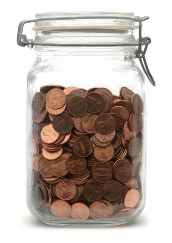 Банка с деньгами для тату