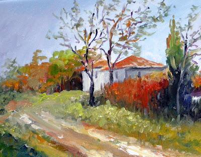 Dipinti di nara burgalassi paesaggi colori ad olio for Disegni di paesaggi colorati
