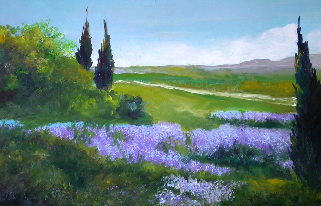 dipinti di nara burgalassi: PAESAGGI (colori ad olio)