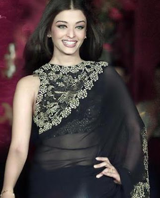 Bollywood actress in saree Aishwarya Rai
