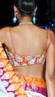 Latest blouse back designs - Spaghetti Strap