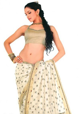 Deepika Padukone in designer saree blouse