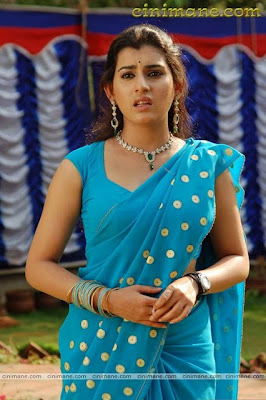 Actress Archana in blue saree