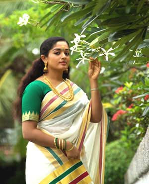 Actress Kavya Mahadevan in Kerala Saree
