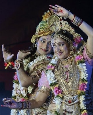 Hema Malini as Radha - Performance in a Stage Show