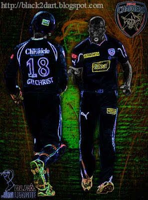 Andrew Symonds and Adam Gilchrist Deccan Chargers (IPL Season 3)