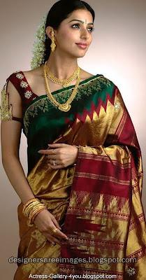 Bhoomika Chawla in Kancheepuram Silk Saree