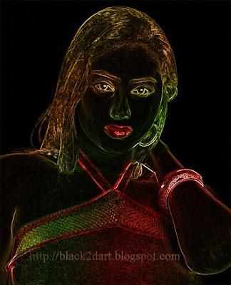 photoshop glowing edges 2dart image