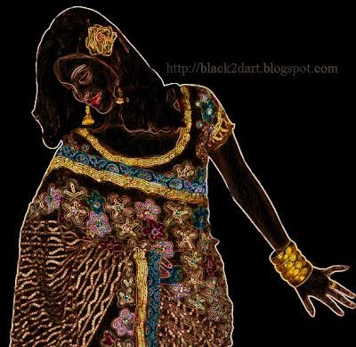 Designer wear Brasso saree