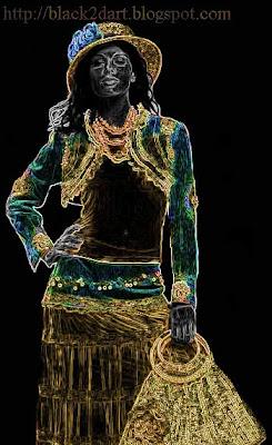 Photoshop Glowing Edges Art - Fashion