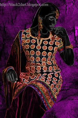 printed churidar indian fashion