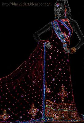 kundan work designer saree
