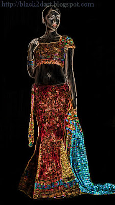 Indian ghagra choli dress