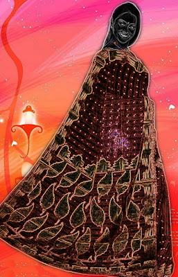 Banarasi patola saree with gold print