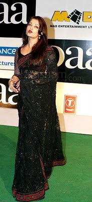 Aishwarya rai in beautiful black saree