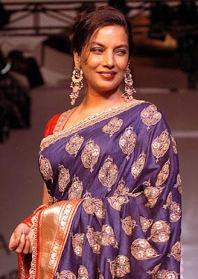 Shabana Azmi looks Gorgeous in Benaras saree