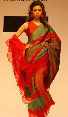 Designer Sarees at Kolkata Fashion Week 2009