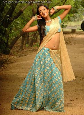 tollywood actress Sonal Chauhan in Designer Half Saree