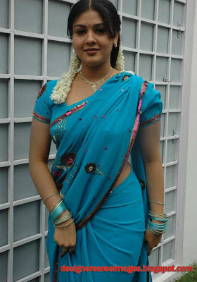 Tollywood Actress Jyothi Krishna in Blue Saree photo