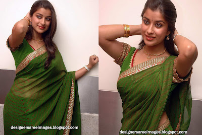 Tamil Actress Madhurima in Green Saree Photos